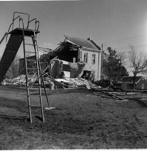 Demolition of St. Hubert's Convent on April 10, 1974