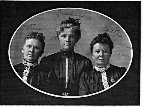 Nettie, Louise and Lottie Miller - 1902