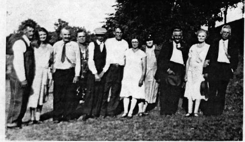 Peter & Elizabeth's Weller's family - 1929