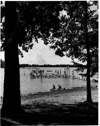 Swimming in Lake Minnewashta at Camp Tanadoona - circa unknown