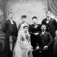 August Jr. & Mary (Van Sloun) Vogel's wedding - February 9, 1892