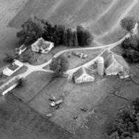 Aerial view of John Kerber's farm.  Circa 1989