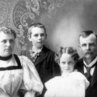 James Aurthur and Miriam (Bennett) Wilson family - circa 1896