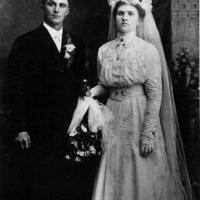 William Frank & Sophia (Williams) Kerber's wedding portrait - September 20, 1910