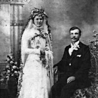 Henry L. & Rose (Geiser) Kelm's wedding portrait - July 19, 1898