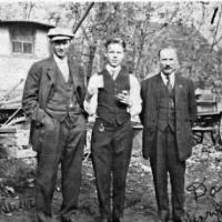 Bill Geiser, Elmer Kelm and Henry Kelm - 1915