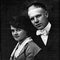 Elmer & Loretta (Weller) Kelm's wedding portrait - May 25, 1918