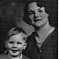 Loretta (Weller) Kelm and son Tom Kelm - 1932