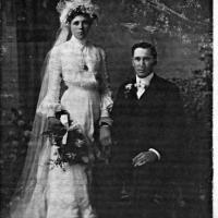 Jack & Sadie (        )Geiser's wedding portrait - circa unknown