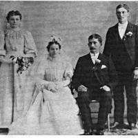 Lambert and Anna (Driessen) Weller's wedding - 1897