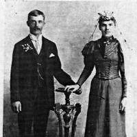 Michael and Teresa (Cordell) Weller's wedding portrait - 1894