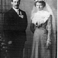"Matthias ""Matt"" and Anna (Weller) Welter's wedding portrait - 1902"