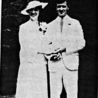 Jerome M. and Cris (Eich) Weller's wedding portrait - 1936