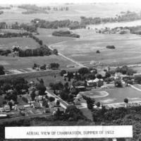 Aerial view of Chanhassen in 1952