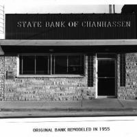 Original Chanhassen Bank remodeled in 1955