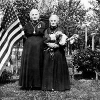 Mary (Cordell) Mergens on right and her sister - circa unknown