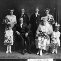 Dan and Pauline (Diethelm) Kerber's wedding portrait - June 1, 1920