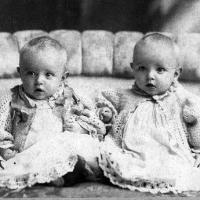 John and Frank Brose; twins born in January of 1902.