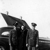 Willard Bongard and Guido Kerber leaving for service in the fall of 1944