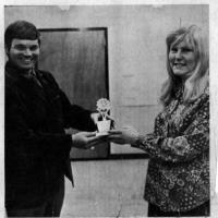 "Chanhassen's Teenager award presented to Marilyn ""Mia"" Huseth - February 1971"