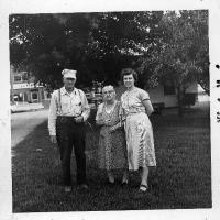 "John ""Jack"" Rettler, Elizabeth (Schlenk) Rettler, and their daughter, Rosella ""Rosie"" Rettler - circa unknow"